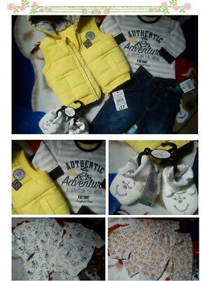 30x WINTER TIGER NEW BUNDLE OUTFITS BABY BOY 0/3 M 3/6 M+ PHOTOS IN DESCRIP NB