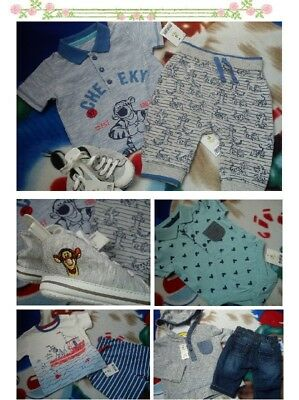 42x SUMMER TIGER NEW BUNDLE OUTFITS BABY BOY 0/3 M 3/6 M+ PHOTOS IN DESCRIP ND