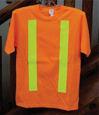 HIGH VISIBILITY T-SHIRT WITH REFLECTIVE STRIPING - Orange