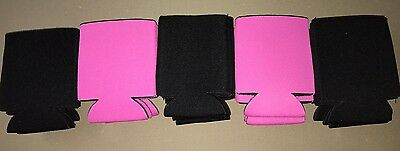 Pink And Black Huggie Koozie Blank Lot 25 Wedding  Can Cooler