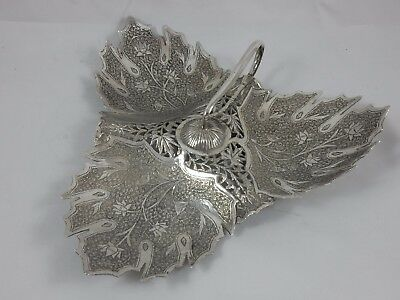 INDIAN solid silver SWEET DISH, c1920, 160gm