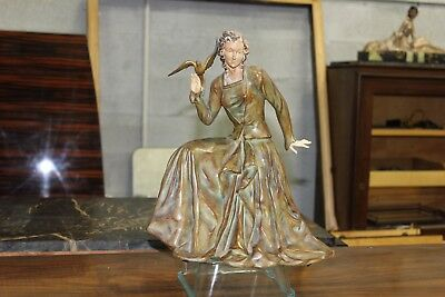Monumental French Art Deco Body Lady Sculpture Or Clock Circa 1940s. AS IS
