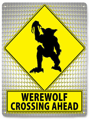 WEREWOLF Lycan horror metal SIGN funny halloween haunted house Wall decor 194