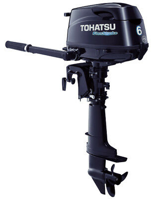 Tohatsu 4-Stroke 6HP Outboard Motor, Tiller Handle, Brand New 5 Year Warranty