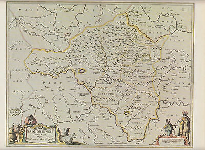 Radnor by Jan Jansson 1646; Reproduction Map
