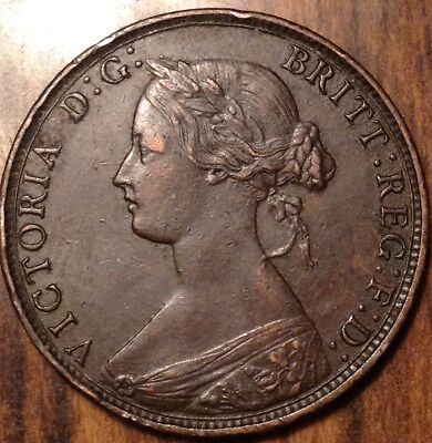 1864 New Brunswick Large 1 Cent In Excellent Condition !