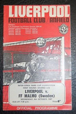 Liverpool V Ff Malmo 1967 Inter Cities Fairs Cup