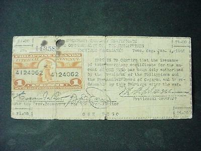 NobleSpirit NO RESERVE {RC-22}Rare Philippines WWII Emergency Currency Note 1942