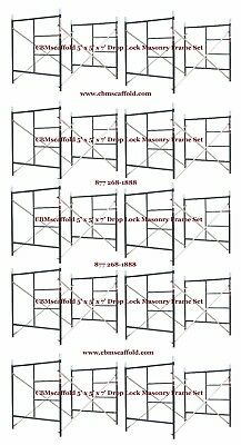 "10 SET of New 5' X 6'4"" X 7' Masonry Drop Lock Scaffold Frame Set CBM Scaffold"