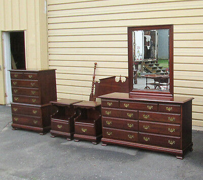 58232  Quality 6 pc Bedroom Set Headboard Dresser mirror High Chest 2 Nightstand