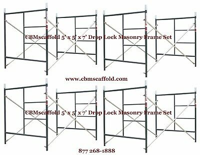 "4 SET of 5' X 5' X 7' Masonry BJ Drop Lock 1.69"" Scaffold Frame Set CBMscaffold"