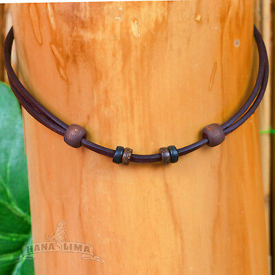 Leather Necklace Leather Strap Brown Adjustable for Own Pendant Necklace