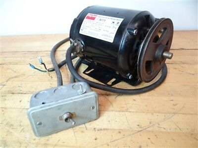 Dayton Ac Motor 1725 Rpm 115V Single Phase 1/4 Hp W/ Power Switch