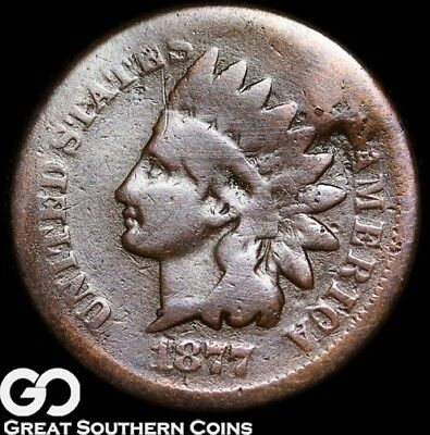 1877 Indian Head Penny, RARE Key Date ** Free Shipping!