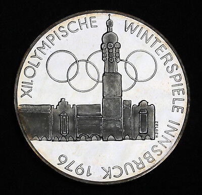 1974 Austria 100 Schilling  Innsbruck Olympics Silver Proof Coin Vienna ++Cameo