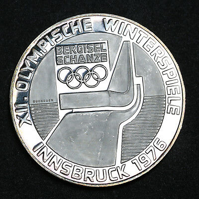 1974 Austria 100 Schilling  Innsbruck Olympics Silver Proof Coin  ++Cameo Vienna