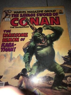 1983 The Savage Sword of CONAN The Barbarian Jan No. 84 Marvel Magazine Group