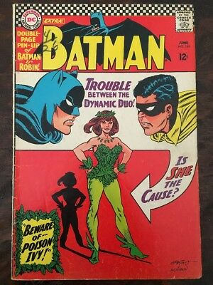 Batman # 181 Ungraded 1st Poison Ivy (Centerfold Poster intact)