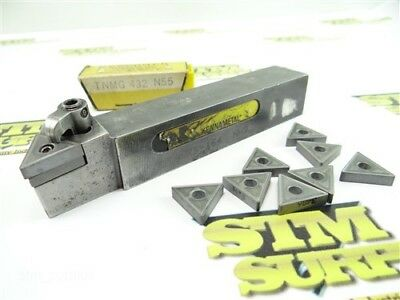 """Kennametal Indexable Tool Holder 1"""" Shank Dtanrs-164 Nh9 +8 New Carbide Inserts"""