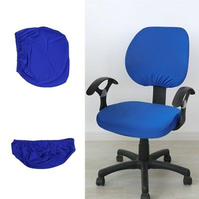 Universal Stretch Rotating Pure Color Chair Cover For Computer Office Desk New