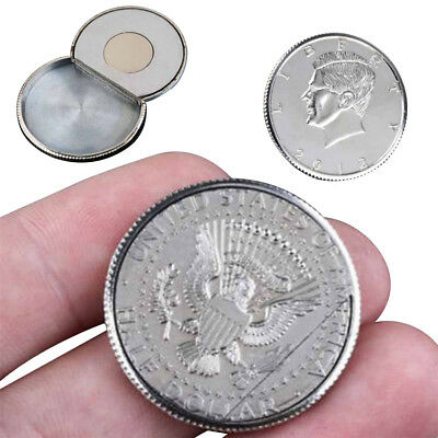 Magic Flipper Coin Half Dollar Magnetic Coin Vanish & Appear Close-Up Stage Prop