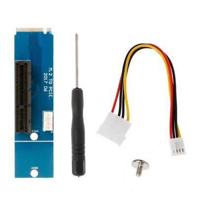 Male To Female NGFF M.2 To PCI-E 4x Slot Riser Card Adapter For Bitcoin  Mining