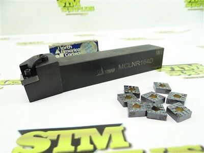 """Nice Triad Indexable Tool Holder Model Mclnr 164D 1"""" Shank + 8 Inserts"""
