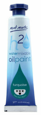 Mont Marte H2O Water Mixable Oil Paint 37ml - Turquoise