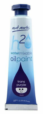 Mont Marte H2O Water Mixable Oil Paint 37ml - Trans Purple