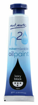 Mont Marte H2O Water Mixable Oil Paint 37ml - Ivory Black