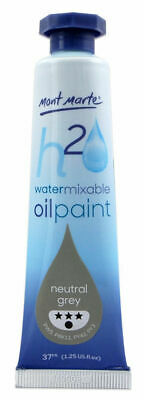 Mont Marte H2O Water Mixable Oil Paint 37ml - Neutral Grey