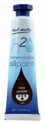 Mont Marte H2O Water Mixable Oil Paint 37ml - Raw Umber