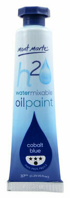 Mont Marte H2O Water Mixable Oil Paint 37ml - Cobalt Blue