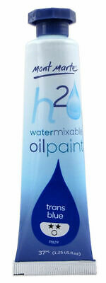 Mont Marte H2O Water Mixable Oil Paint 37ml - Trans Blue