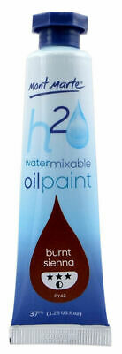 Mont Marte H2O Water Mixable Oil Paint 37ml - Burnt Sienna
