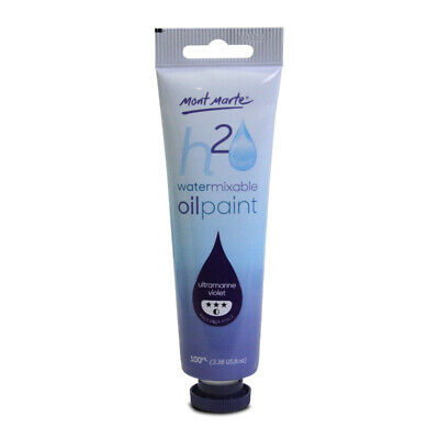 Mont Marte H2O Water Mixable Oil Paint 100ml - Ultramarine Violet
