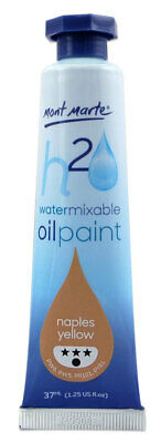 Mont Marte H2O Water Mixable Oil Paint 37ml - Naples Yellow