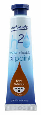 Mont Marte H2O Water Mixable Oil Paint 37ml - Raw Sienna
