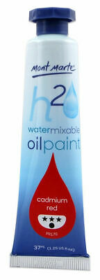 Mont Marte H2O Water Mixable Oil Paint 37ml - Permanent Red