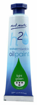 Mont Marte H2O Water Mixable Oil Paint 37ml - Light Green