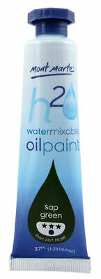 Mont Marte H2O Water Mixable Oil Paint 37ml - Sap Green