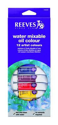 Reeves Paint Set - Water Mixable Oil 12 x 10ml