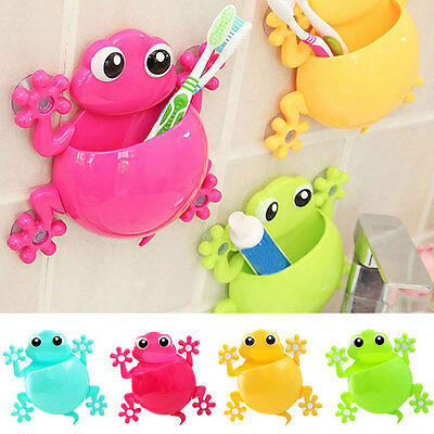 Home Bath Toothbrush Holder Wall Mount Suction Cup Toothpaste Storage Rack New