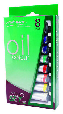 Mont Marte Intro Paint Set - Professional Oil Paint 8pc x 18ml