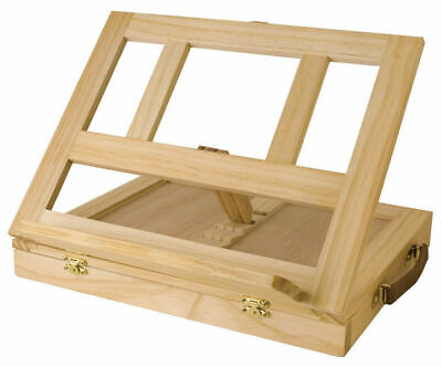Mont Marte Desk Easel - Compact Tabletop Easel w/Drawer Pine Wood