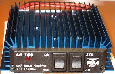 RM Italy LA 144 Wideband 70 Watts 2m amplifier (135-175 mhz) for HT VHF Radio