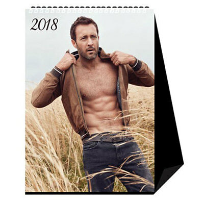 Alex O'Loughlin January December 2018 Desk Table Photo Calendar