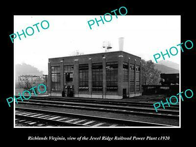 OLD LARGE HISTORIC PHOTO OF RICHLANDS VIRGINIA, THE RAILROAD POWER PLANT c1920