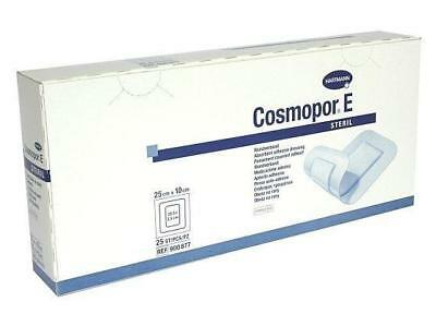 Cosmopor E Sterile Adhesive Wound Dressings 25cm x 10cm x 25 Surgical Cuts Burns