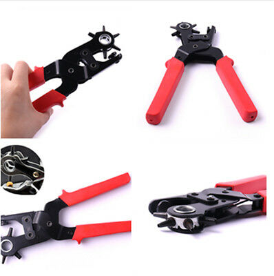 Revolving Leather Belt Eyelet Oylet Hole Punch Puncher Plier Craft Cobbler tool